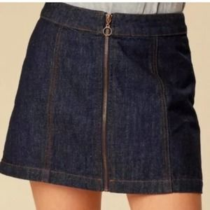 NWT Altar'd state zip front mini jean skirt 90s